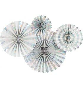 Abanicos de papel Holographic