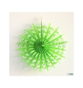 Abanico Copo de nieve Verde Lima 30 cm