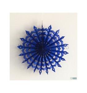 Abanico Copo de nieve Azul oscuro 30 cm