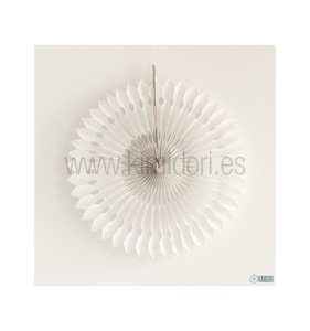 Abanico Decorado Blanco 30 cm