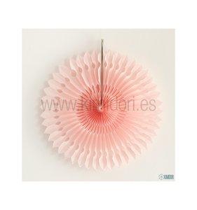 Abanico Decorado Rosa Palo 30 cm
