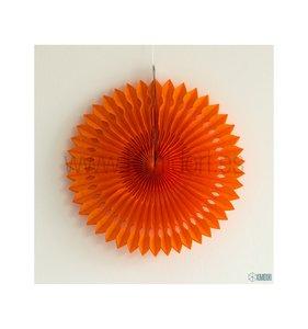 Abanico Decorado Naranja 30 cm