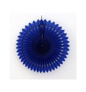 Abanico Decorado Azul oscuro 30 cm