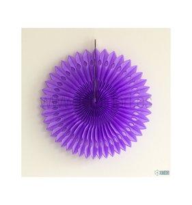 Abanico Decorado Lila 30 cm