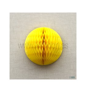Bola de nido de abeja Amarillo 20 cm