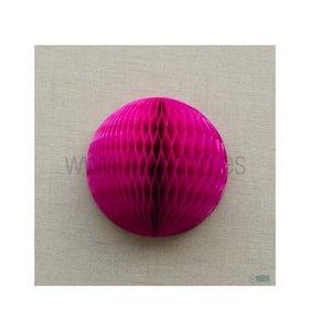 Bola de nido de abeja Rosa fucsia 30 cm