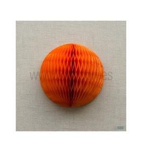 Bola de nido de abeja Naranja 30 cm