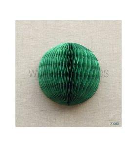 Bola de nido de abeja Verde botella 30 cm