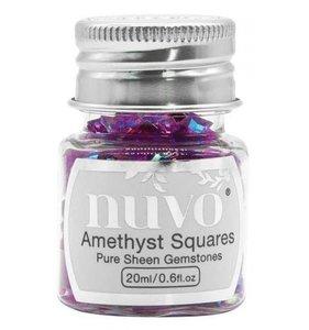Nuvo Pure Sheen Gemstones Amethyst Squares