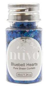 Nuvo Pure Sheen Confetti Bluebell Hearts