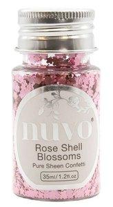 Nuvo Pure Sheen Confetti Rose Shell Blossoms