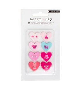 Pegatinas de goma Heart Day