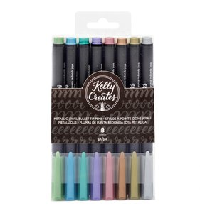 Rotuladores punta punta fina para journaling Metallic Jewel Kelly Creates