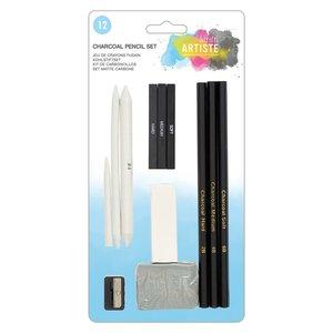 Artiste Charcoal Pencil Set 12 pcs