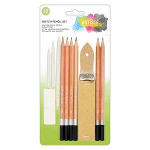 Artiste Sketch Pencil Set 12 pcs