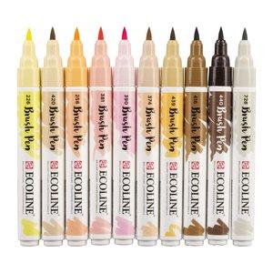 Set Ecoline Brush Pen 10 pk Colores Piel