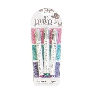 NUVO Glitter Marker Northern Lights 3 pcs