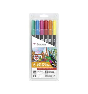 Set 6 rotuladores Tombow Dual Brush Dermatollogically Colors