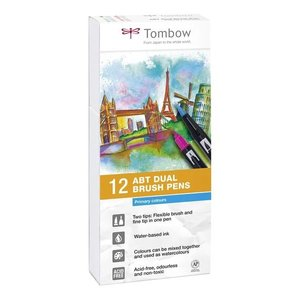 Set 12 rotuladores Tombow Dual Brush Primary Colors