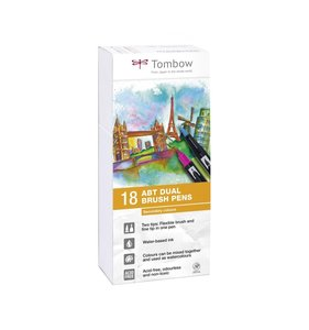 Set 18 rotuladores Tombow Dual Brush Secondary Colors
