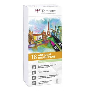 Set 18 rotuladores Tombow Dual Brush Pastel Colors