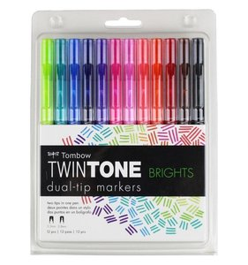 Tombow Twintone Brights 12 pk