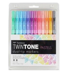 Tombow Twintone Pastels 12 pk