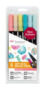 Set 6 rotuladores Tombow Dual Brush Candy Colors