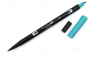 Rotulador acuarelable Tombow Dual Brush 407 Tiki Teal