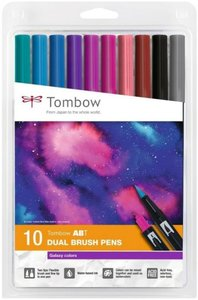 Set 10 rotuladores Tombow Dual Brush Galaxy Colors