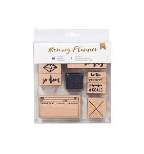 Set sellos de madera Marble Crush