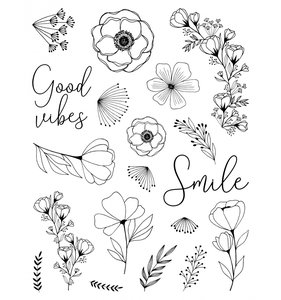 Set de sellos Good Vibes