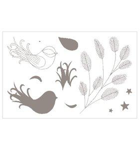 Set de sellos acrílicos Isatis Birds
