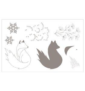 Set de sellos acrílicos Isatis Fox