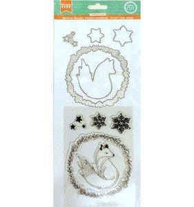 Set de sellos y troqueles Isatis Standing Fox