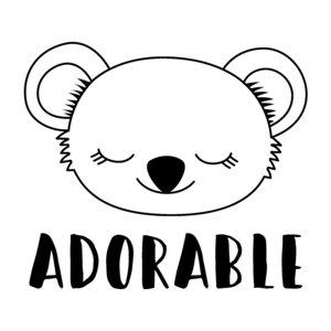 Sello y bloque de metacrilato Adorable