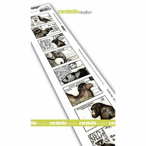 Sello Carabelle tipo Cling Lebels Postcards Animals
