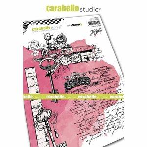 Sello Carabelle tipo Cling A5 Secret Garden