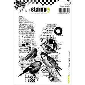 Sello Carabelle tipo Cling A6 Collage Avec Des Oiseaux