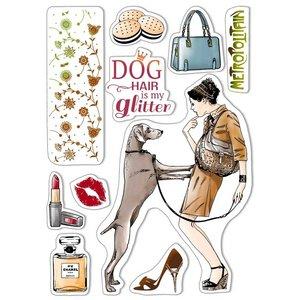 "Sellos Ciao Bella 6x8"" Dog Air is my Glitter"