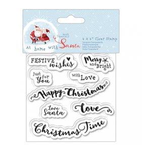 Sellos Sentiments At Home with Santa