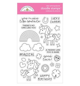 Sellos Doodlebug Rainbows & Unicorns