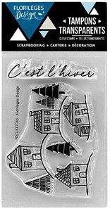 Set de sellos acrílicos Florilèges VILLAGE ENNEIGE
