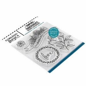 Set de sellos acrílicos Florilèges GREEN ATTITUDE