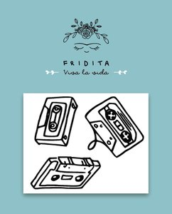 Mini Sellos Fridita Cassettes 80,s