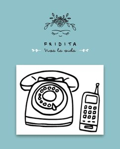 Mini Sellos Fridita Teléfono 80,s