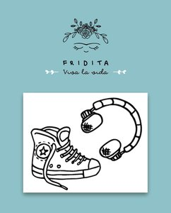 Mini Sellos Fridita Zapatillas 80,s
