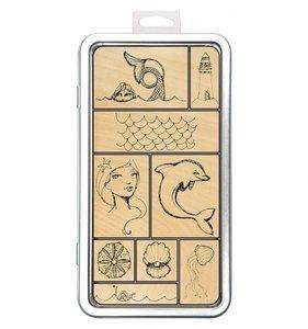 Set sellos madera Jane Davenport Artomology