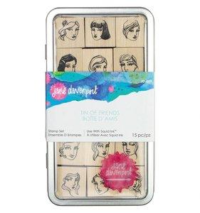 Set de sellos de madera JD Tin of Friends
