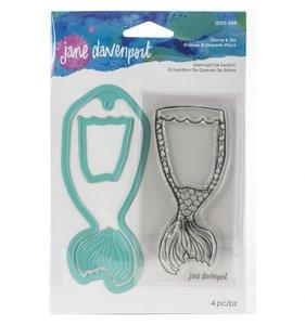 JD Artomology Sellos y troqueles Mermaid Tail Swatch